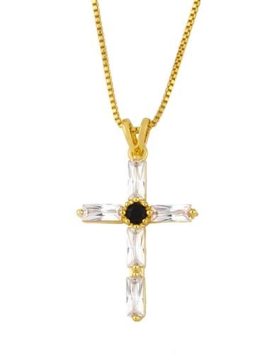 Brass Cubic Zirconia Geometric Minimalist Regligious Necklace