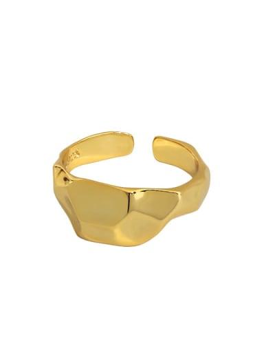 18K gold [13 adjustable] 925 Sterling Silver Geometric Minimalist Band Ring