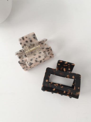 Cellulose Acetate Minimalist Geometric Alloy Jaw Hair Claw