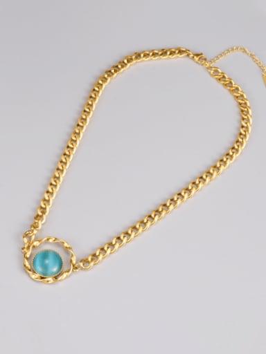 Titanium Steel Cats Eye Heart Minimalist Necklace