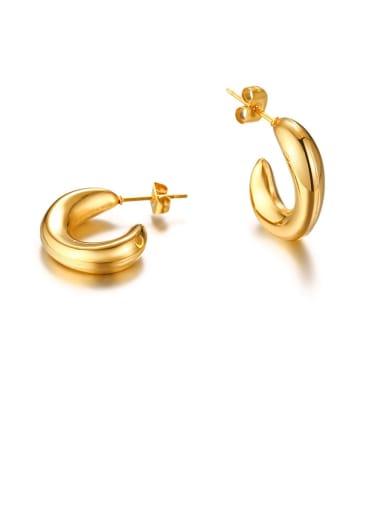 Stainless Steel Irregular Minimalist Stud Earring