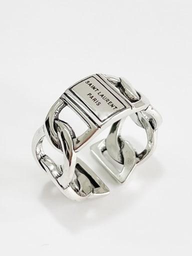 Paris ring j1611 925 Sterling Silver Geometric Vintage Stackable Ring