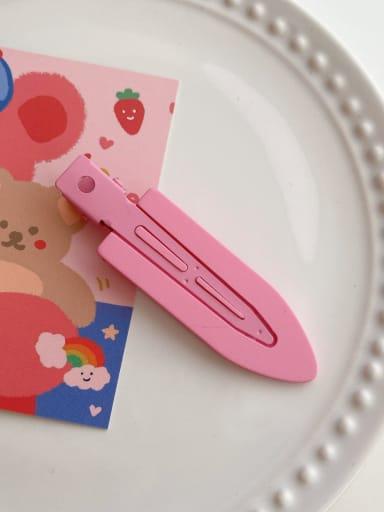 Rose Pink 6.8cm Alloy Resin Minimalist Irregular  Hair Barrette