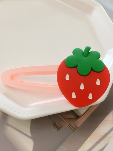 strawberry Alloy Resin Cute Friut  Hair Barrette