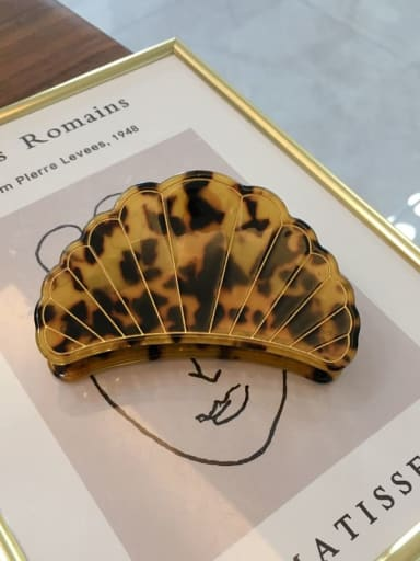 Caraway shell 8.8cm Cellulose Acetate Minimalist Scallop shell Jaw Hair Claw
