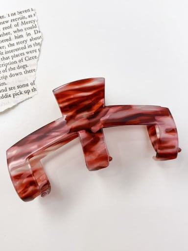 Water grain red 9cm Cellulose Acetate Minimalist Irregular Alloy Multi Color Jaw Hair Claw