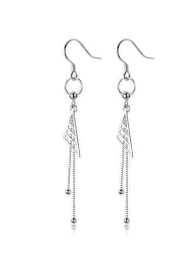 925 Sterling Silver Tassel Minimalist Hook Earring