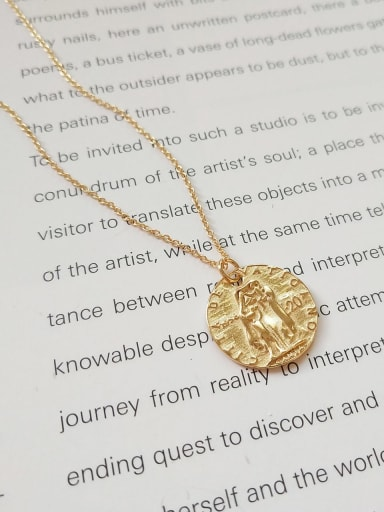 925 sterling silver gold head Coin Pendant Necklace