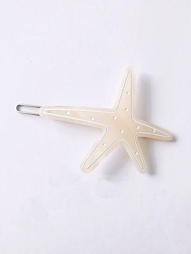 yellow Cellulose Acetate Minimalist Star Hair Pin