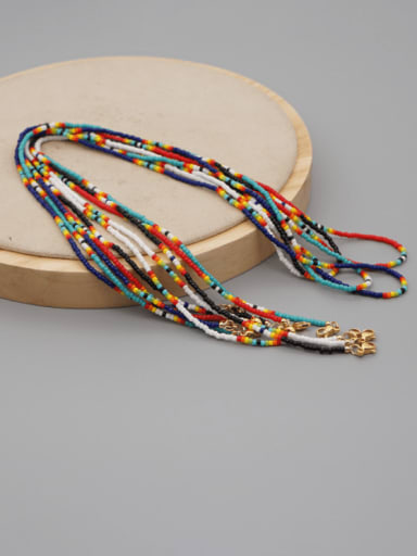 Stainless steel MGB Bead Multi Color Bohemia Necklace