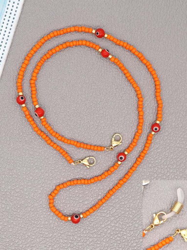 GZ N200002B Stainless steel Bead Multi Color Evil Eye Bohemia Hand-woven Necklace