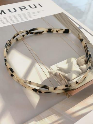 Rice turtle K008 Cellulose Acetate Vintage Geometric Hair Headband