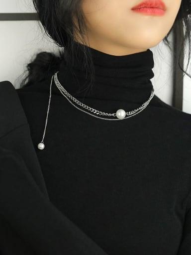1801 love smile Titanium Steel Locket Hip Hop Necklace