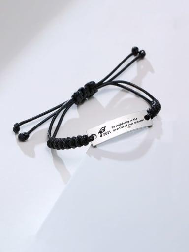 Stainless steel Geometric Minimalist Woven Bracelet