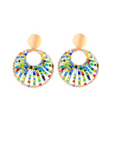 Caiyuan Alloy Hollow Geometric Bohemia Drop Earring
