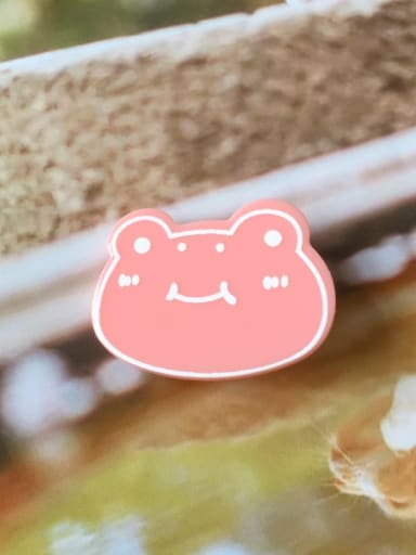 Pink Frog Alloy Cellulose Acetate Cute Animal Frog  Hair Barrette