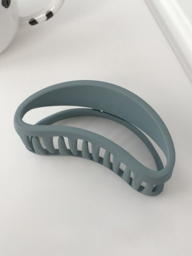 blue Cellulose Acetate Minimalist Matte matte oval hollow geometry  Alloy Jaw Hair Claw