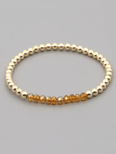 RZ B200004C Stainless steel Freshwater Pearl Multi Color Round Bohemia Stretch Bracelet