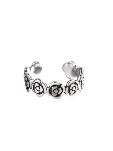 925 Sterling Silver Rosary Vintage Midi Ring