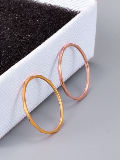 Titanium Steel Round Minimalist Midi Ring
