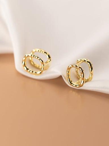 925 Sterling Silver Geometric Minimalist Clip Earring