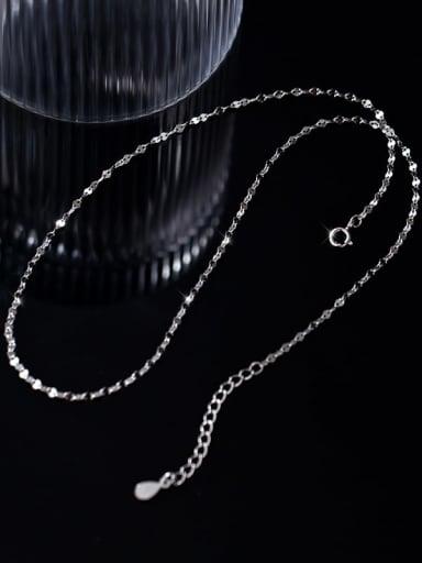 925 Sterling Silver Round Minimalist Twisted Serpentine Chain
