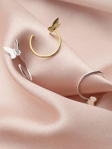 925 Sterling Silver Butterfly Minimalist Huggie Earring