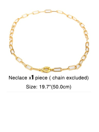 Brass Cubic Zirconia Letter Ethnic Necklace