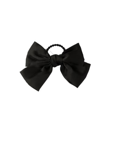 C black (Hair Rope) Alloy With Gun Plated Fashion Ribbon  Butterfly Hair Ropes
