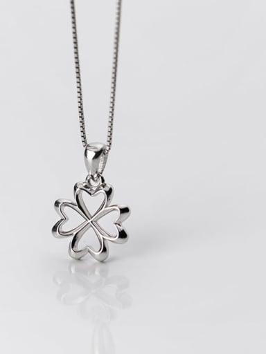 925 Sterling Silver Flower  Minimalist Pendant
