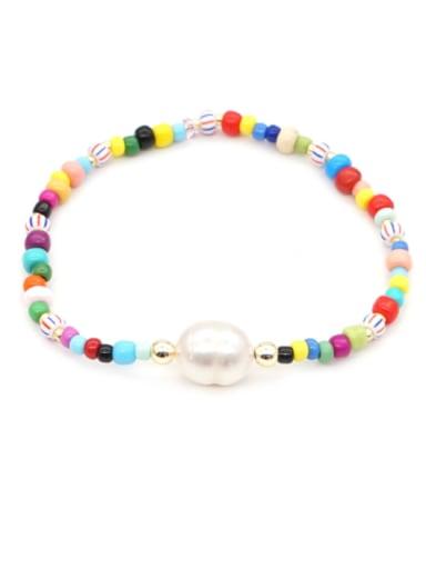Freshwater Pearl Round Minimalist Stretch Bracelet