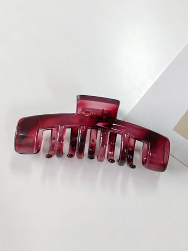 violet Alloy Cellulose Acetate Hip Hop Geometric  Jaw Hair Claw