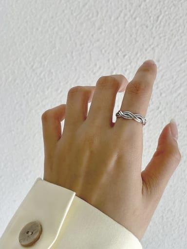 Knitting ring j193 2.5G 925 Sterling Silver Carnelian Irregular Vintage Band Ring