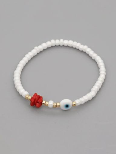 GZ B200007B Stainless steel Freshwater Pearl Irregular Minimalist Stretch Bracelet