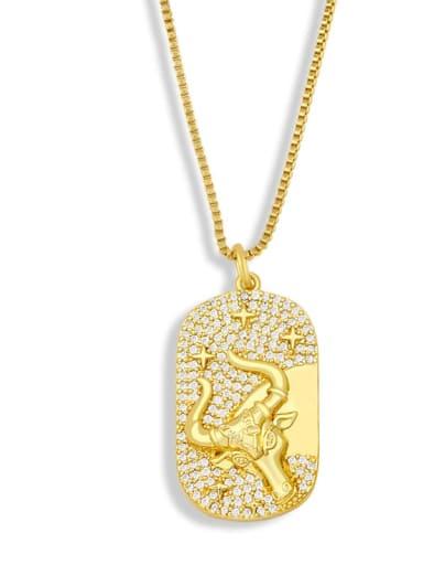 B Brass Cubic Zirconia Cross Hip Hop Necklace