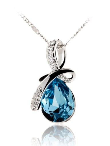 Copper Crystal Water Drop Minimalist Necklace