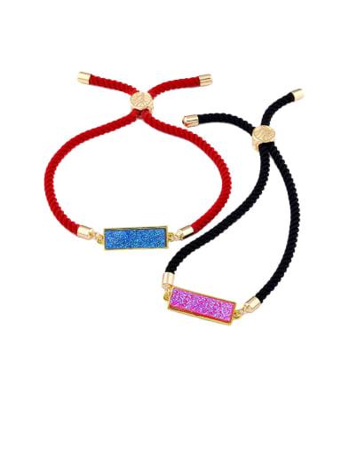 Red rope Geometric Minimalist Adjustable Bracelet