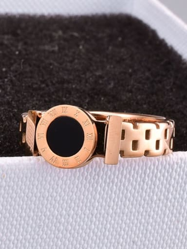 Titanium Steel Acrylic Geometric Minimalist Band Ring