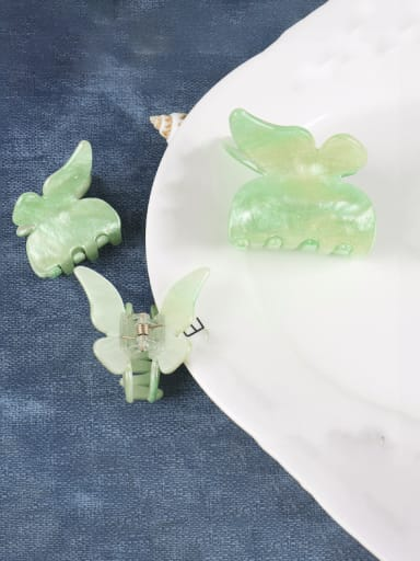 Cellulose Acetate Minimalist Butterfly Zinc Alloy Jaw Hair Claw