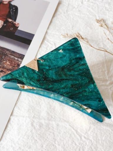 Triangle grip small Alloy  Acrylic Vintage Geometric Jaw Hair Claw