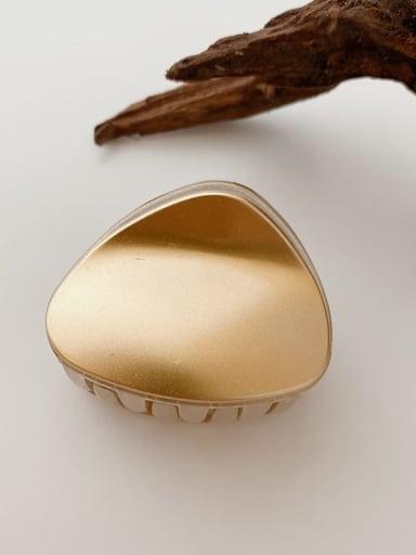 Champagne gold 5.5cm Alloy Resin  Minimalist TriangleJaw Hair Claw