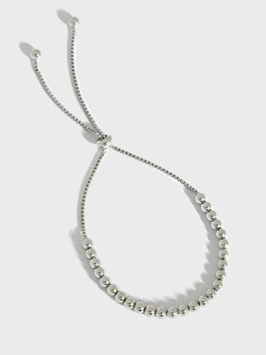 925 Sterling Silver Geometric Vintage Beaded Bracelet