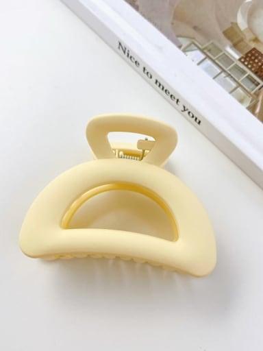 4 semicircle 7cm Alloy Resin Minimalist Geometric  Jaw Hair Claw