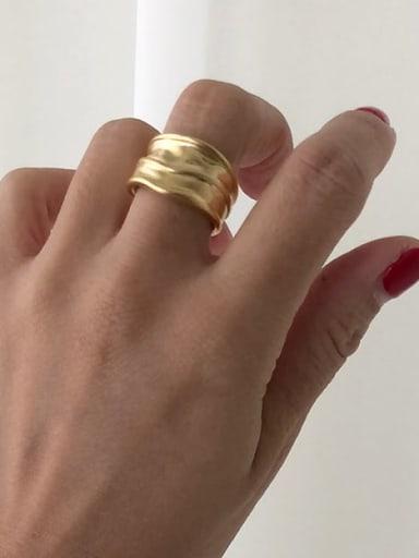 925 Sterling Silver Geometric Minimalist Irregular Wide Face Free Size Rings