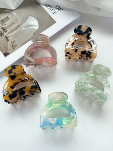Alloy Cellulose Acetate Cute Geometric Jaw Hair Claw