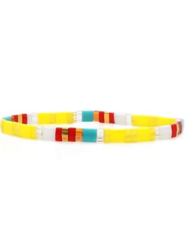 TL B190267C Tila Bead Bohemia Multi Color Square  Pure Handmader  Adjustable Bracelet