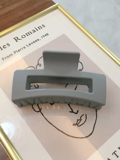 Frosted grey Cellulose Acetate Minimalist Geometric Jaw Hair Claw