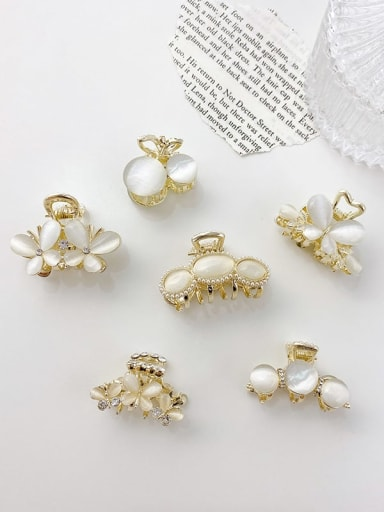 Alloy Cats Eye  Minimalist Butterfly  Jaw Hair Claw