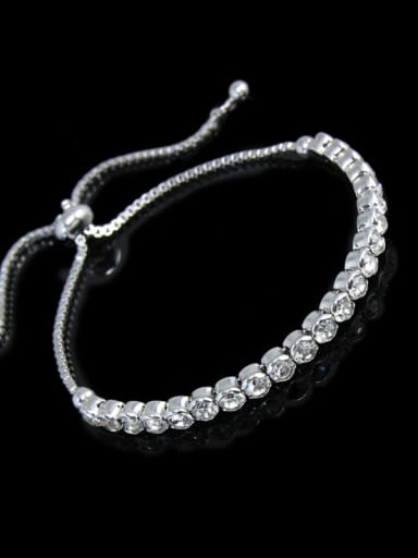 Alloy Cubic Zirconia Geometric Bohemia Adjustable Bracelet