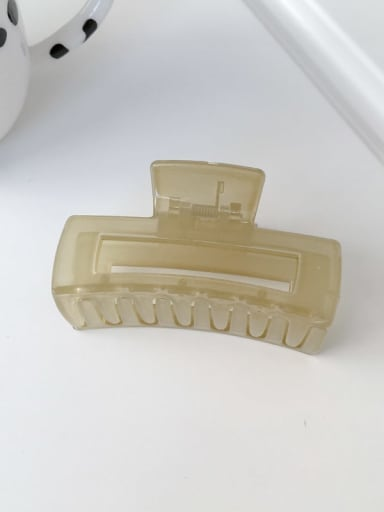 PC green 8cm Alloy Resin  Minimalist Geometric Jaw Hair Claw